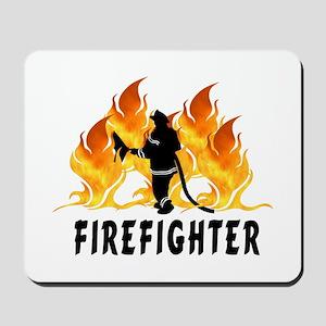 Firefighting Flames Mousepad