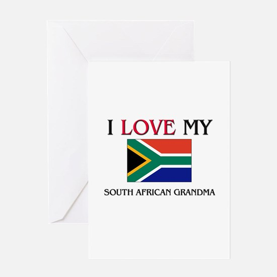 I Love My South African Grandma Greeting Card