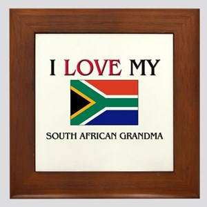 I Love My South African Grandma Framed Tile