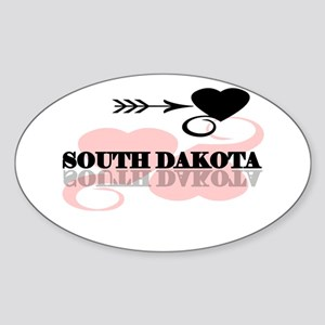 South Dakota Oval Sticker