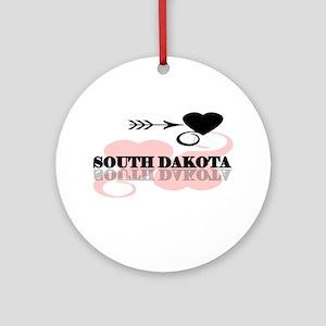 South Dakota Ornament (Round)