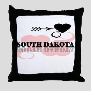 South Dakota Throw Pillow