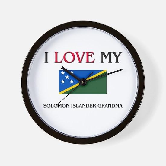 I Love My Solomon Islander Grandma Wall Clock