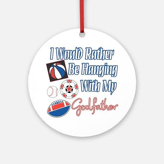 Sports Godfather Ornament (Round)