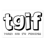 TGIF Thank God I'm Forgiven Postcards (Package of