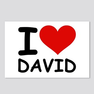 I LOVE DAVID Postcards (Package of 8)