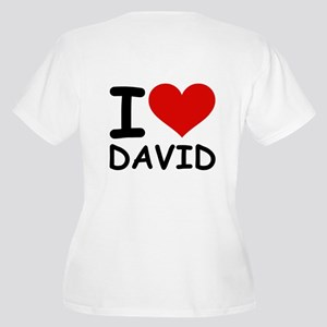 I LOVE DAVID Women's Plus Size V-Neck T-Shirt