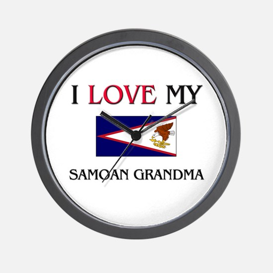 I Love My Samoan Grandma Wall Clock