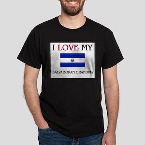 I Love My Salvadoran Grandma Dark T-Shirt