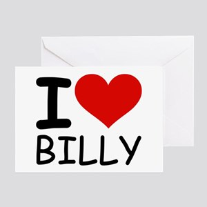 I LOVE BILLY Greeting Card