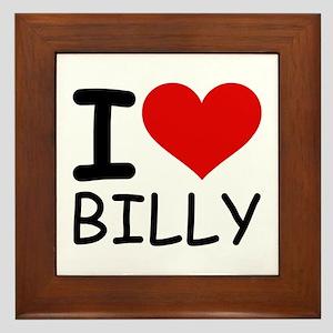 I LOVE BILLY Framed Tile