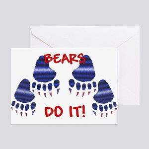 LEATHER PRIDE PAWS/BEARS DO IT Greeting Card