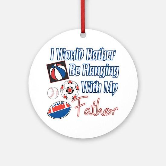 Sports Father Ornament (Round)