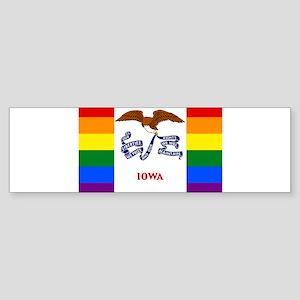 Iowa Ohio LGBT Gay Pride Rainbow Fl Bumper Sticker