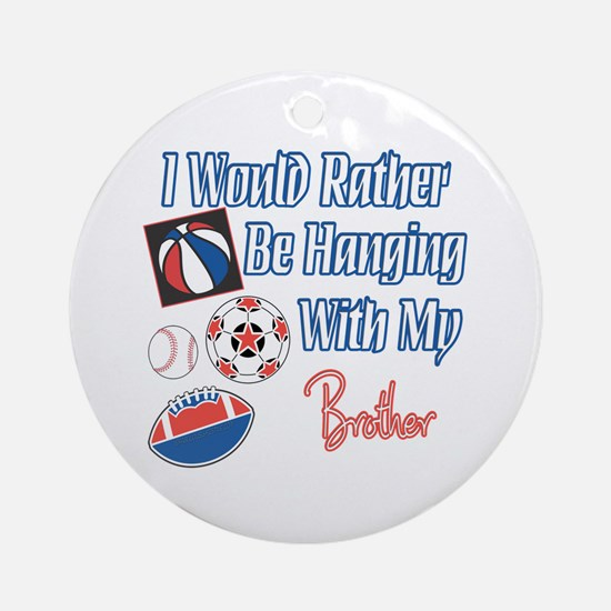 Sports Brother Ornament (Round)