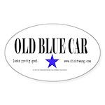 Old Blue Car Oval Sticker