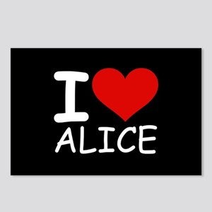 I LOVE ALICE (blk) Postcards (Package of 8)