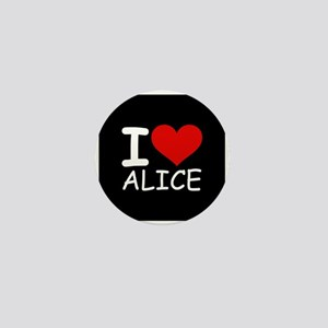 I LOVE ALICE (blk) Mini Button