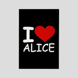 I LOVE ALICE (blk) Rectangle Magnet