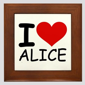 I LOVE ALICE Framed Tile