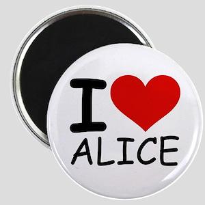 I LOVE ALICE Magnet