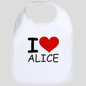 I LOVE ALICE Bib