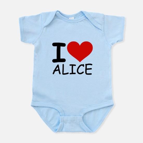 I LOVE ALICE Infant Bodysuit