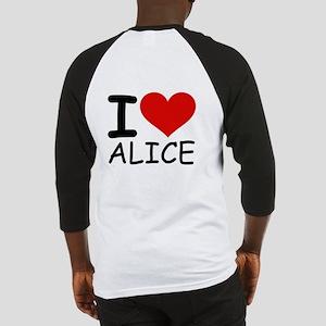 I LOVE ALICE Baseball Jersey