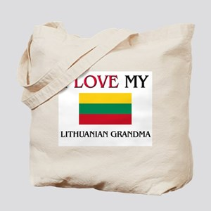 I Love My Lithuanian Grandma Tote Bag