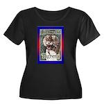 50th Women's Plus Size Scoop Neck Dark T-Shirt