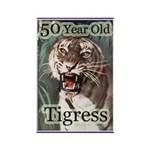 50th Birthday Gifts, Tigress Rectangle Magnet
