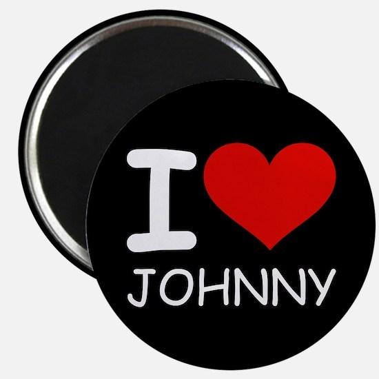 I LOVE JOHNNY Magnet