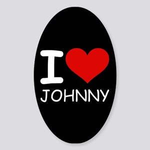 I LOVE JOHNNY Oval Sticker