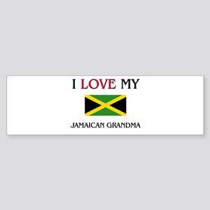 I Love My Jamaican Grandma Bumper Sticker