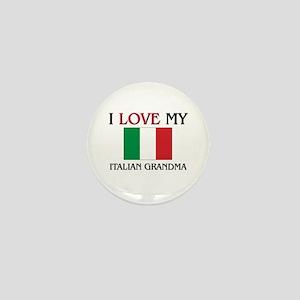 I Love My Italian Grandma Mini Button