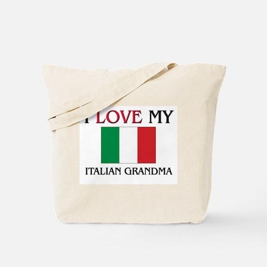 I Love My Italian Grandma Tote Bag