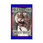 50th Birthday Gifts Rectangle Sticker