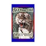 50th Birthday Gifts Rectangle Sticker 10 pk)
