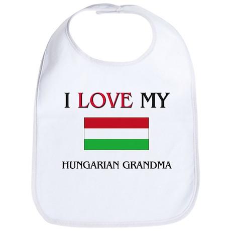 I Love My Hungarian Grandma Bib