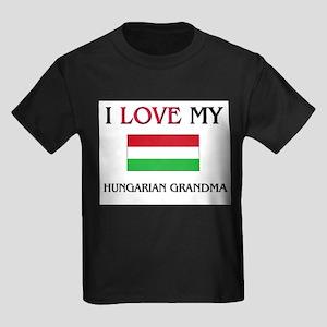 I Love My Hungarian Grandma Kids Dark T-Shirt