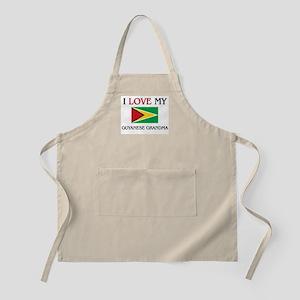 I Love My Guyanese Grandma BBQ Apron
