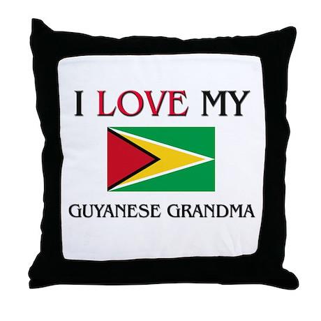 I Love My Guyanese Grandma Throw Pillow
