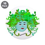 """Medusa Molly 3.5"""" Button (10 pack)"""