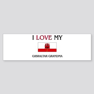 I Love My Gibraltar Grandma Bumper Sticker