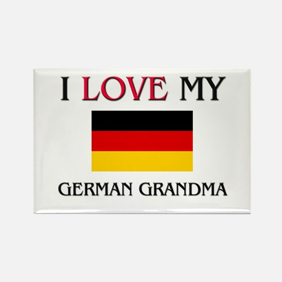 I Love My German Grandma Rectangle Magnet
