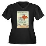 Over the Hill Women's Plus Size V-Neck Dark T-Shir