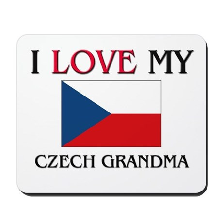 I Love My Czech Grandma Mousepad