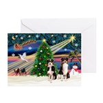 XmasMagic/Aussie (#1) Greeting Cards (Pk of 10)
