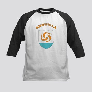 Stylized Anguilla Kids Baseball Jersey