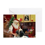 Santa's Bull Mastiff #4 Greeting Cards (Pk of 20)